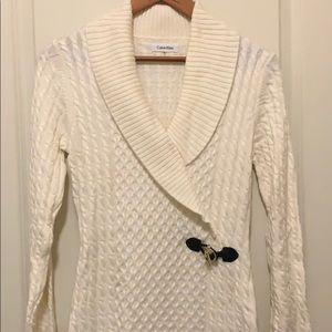 Calvin Klein long sleeve cross front dress